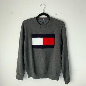 Tommy Hilfiger | grey Hilfiger flag knit sweater